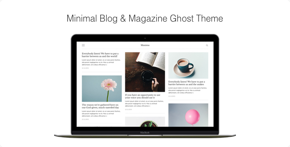 Maxima - Minimal Blog & Magazine Ghost Theme            TFx