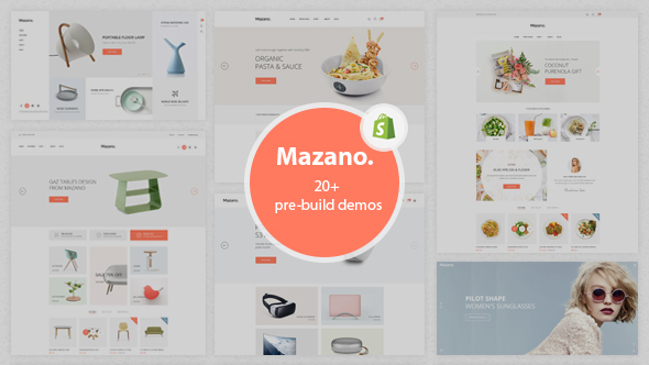 Mazano - Trendy Shopify Theme With 20+ Demos            TFx