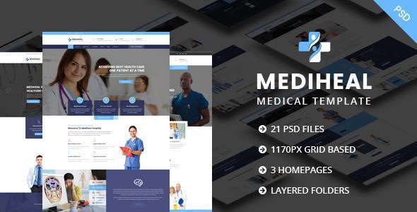 MediHeal - Medical Hospital PSD Template            TFx