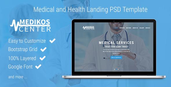 MediKos Center - Medical and Health PSD Landing Template            TFx