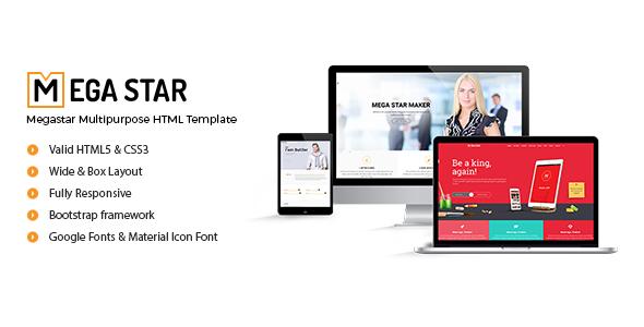 Megastar – Multipurpose HTML Template            TFx