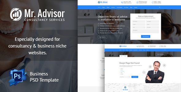 Mister Advisor, Consulting and Finance Template            TFx