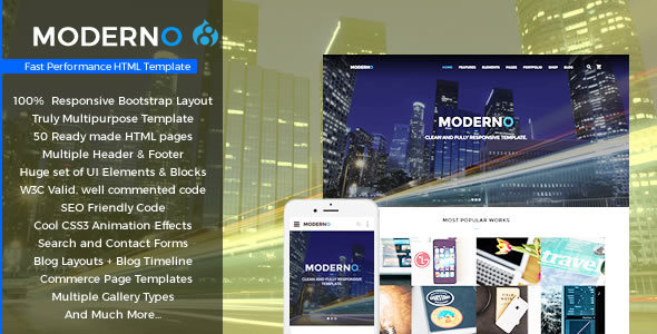 Moderno - Multipurpose Fast Performance Drupal8 Theme            TFx