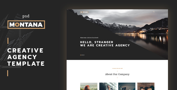 Montana - modern and creative One Page Template            TFx