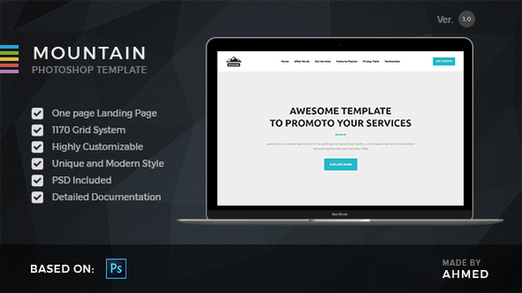 Mountain - Marketing PSD Template            TFx