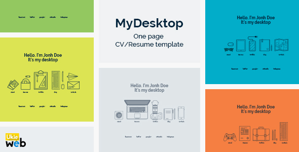 MyDesktop – One Page Personal CV/Resume Template            TFx