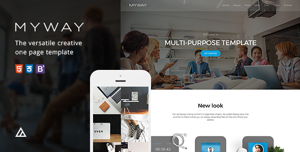 Myway - Joomla Responsive Onepage Template            TFx