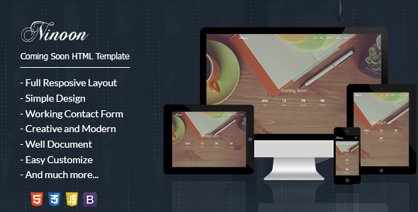 NINOON - Coming Soon HTML Template            TFx
