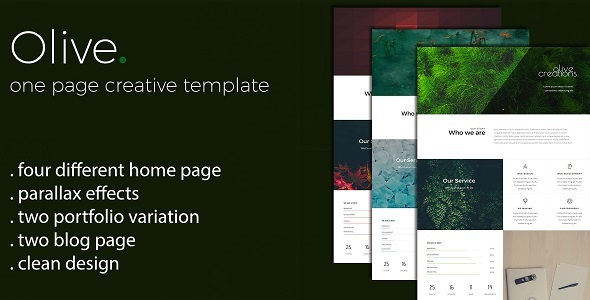 Olive - One Page Multi Purpose Template            TFx