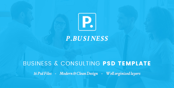 P.Business - Business & Consulting PSD Template            TFx