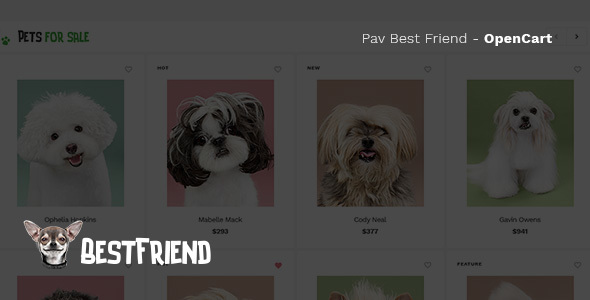 Pav Bestfriend - Creative Opencart theme for Pets store            TFx