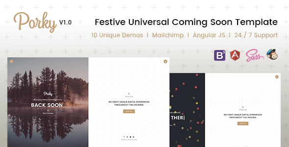 Porky – Responsive HTML5 Coming Soon Template            TFx