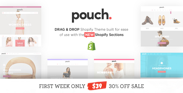 Pouch - Responsive Drag and Drop Shopify Theme            TFx
