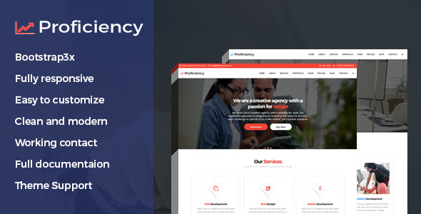 Proficiency Material Design Business HTML Template            TFx