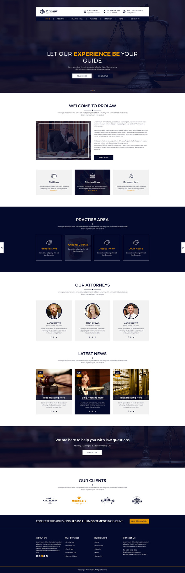 Prolaw Legal Law Firm - Attorney PSD Templates            TFx