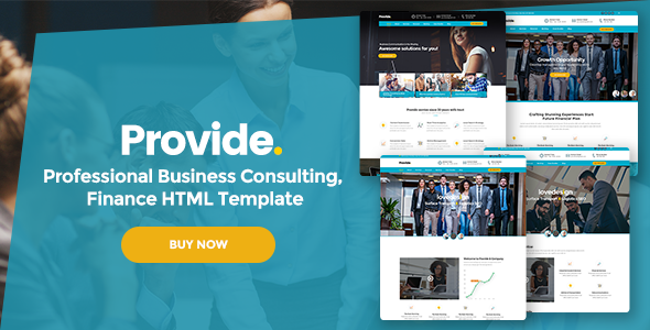 Provide - Professional Business Consulting, Finance HTML Template            TFx