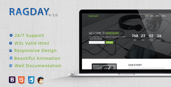 RagDay - Responsive Coming Soon Template            TFx