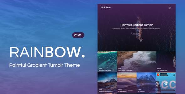 Rainbow | Gradient Grid Tumblr Theme            TFx