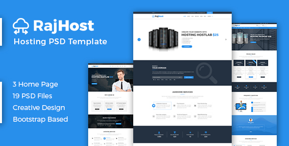RajHost - Web Hosting with WHMCS PSD Template            TFx