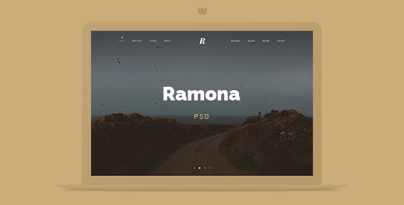 Ramona Creative Studio PSD Template            TFx