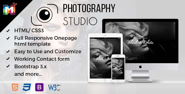 Responsive One Page Photography Template            TFx