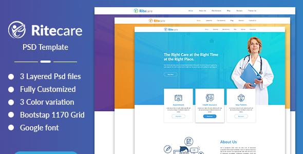 Ritecare - Healthcare PSD Template            TFx