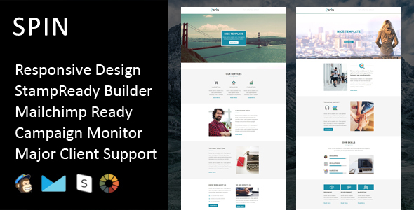 SPIN - Multipurpose Responsive Email Template + Stampready Builder            TFx
