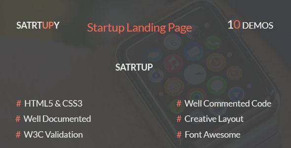 STARTUPY - Startup Landing Page            TFx