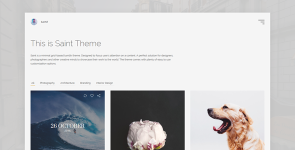 Saint - Grid Based Tumblr Theme            TFx