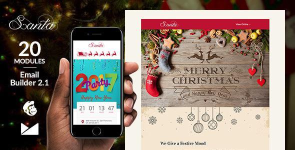 Santa Email Template + Online Emailbuilder 2.1            TFx