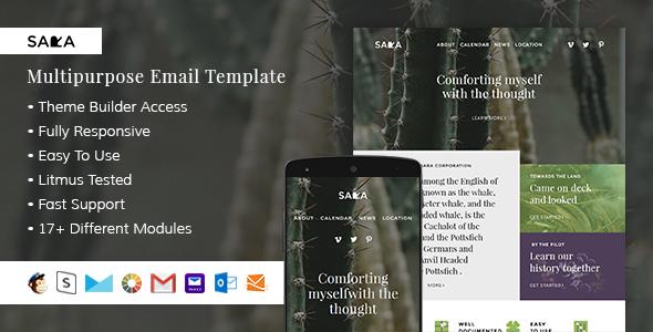 Sara – Responsive Email + StampReady Builder            TFx