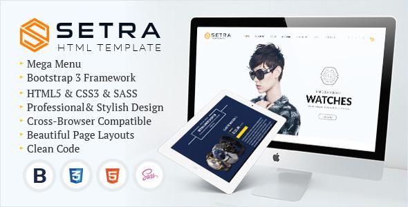 Setra - e-Commerce Website Template            TFx