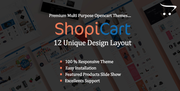 ShopiCart - MultiPurpose OpenCart Theme            TFx