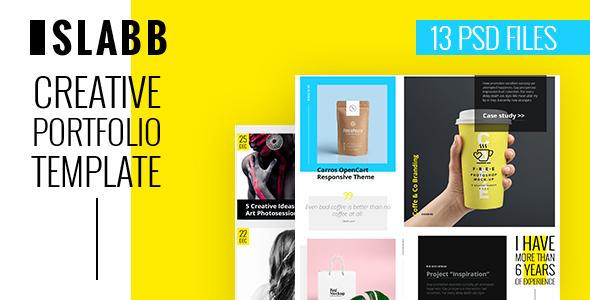 Slabb — Creative Portfolio PSD Template            TFx