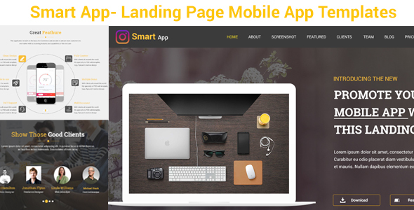 Smart App- Mobile App-PSD Templates            TFx