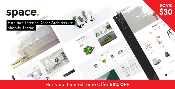 Space - Minimal Furniture Interior Decor Architecture Shopify Theme            TFx