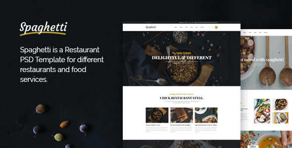 Spaghetti - Multi-Purpose Food & Restaurant PSD Template            TFx