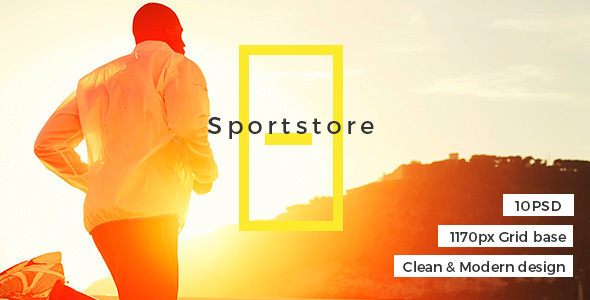 Sport store - Premium E-Commcerce PSD Templates            TFx