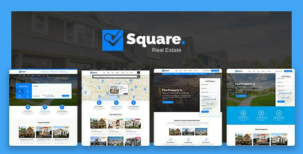 Square - Professional Real Estate PSD Templates            TFx