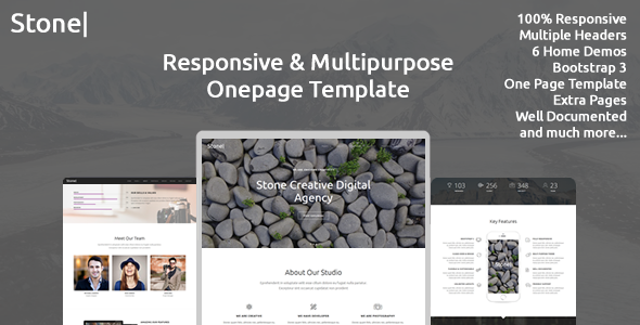 Stone - Responsive Multipurpose One Page Template            TFx