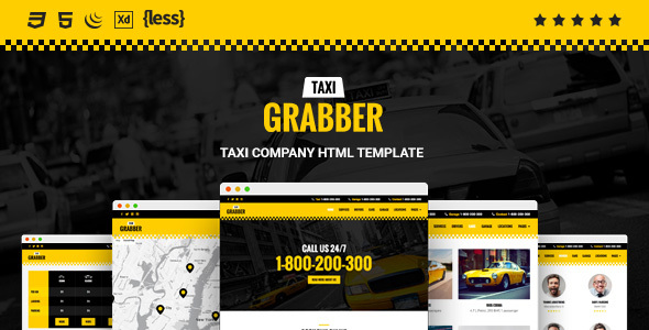 Taxi Grabber HTML Template            TFx