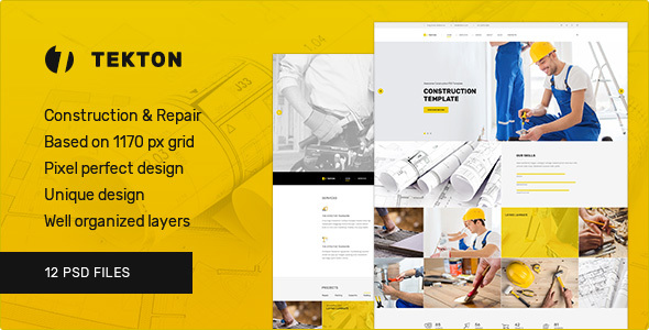 Tekton — Construction and Repair PSD Template            TFx