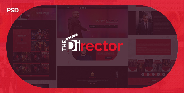 The Director - Film Director & Video Portfolio PSD Template            TFx