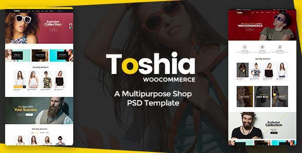Toshia Woo-Commerce - Multipurpose Shop PSD Template            TFx