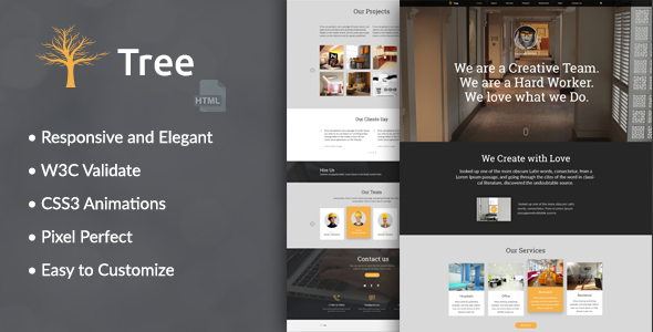 Tree - Interior Design, Architecture Business HTML Template            TFx