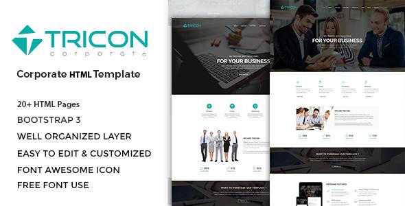 Tricon – Multipurpose HTML Template            TFx