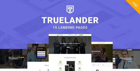 TrueLander - Multipurpose PSD Landing Pages Kit            TFx