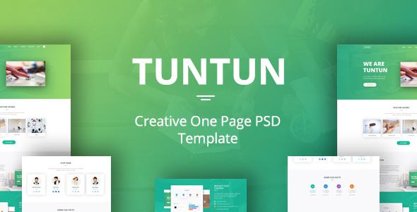 Tuntun - Creative One Page PSD Template            TFx
