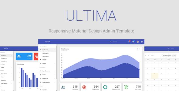 Ultima - Responsive Material Design Admin Dashboard            TFx