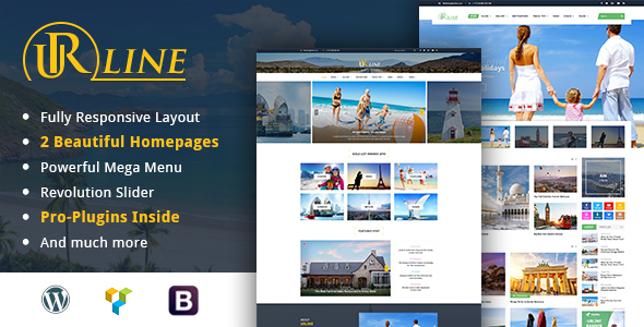 Urline - Creative WordPress Travel News And Magazine Theme            TFx